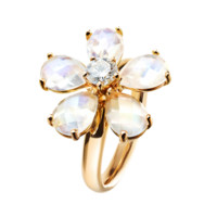 Flowers Ring Moonstone Rose Gold | Rings RenéSim