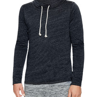 Threads 4 Thought Men's Funnel Neck Hoodie - Black -
