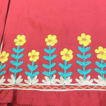 PALAZZO WITH EMBROIDERY