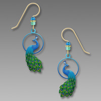 Sienna Sky Earrings - Peacock in Blues and Greens