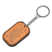 The Serenity Prayer Wood Keychain