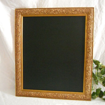 Ornate Large gold Framed Chalkboard, large chalkboard, Big Framed chalk board, kitchen menu board, restaurant chalkboard, wedding chalkboard