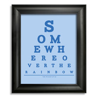 The Wizard of Oz Somewhere Over The Rainbow Eye Chart, 8 x 10 Giclee Print BUY 2 GET 1 FREE