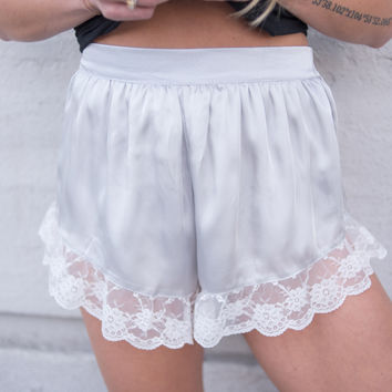 Louisa Satin Lace Shorts