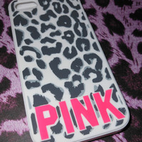 Victoria's Secret PINK Cheetah Leopard iPhone 5 Case Cover Soft Animal Print Hot