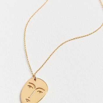 KOPI Face Pendant Necklace | Urban Outfitters