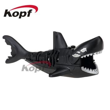 Single Sale Ghost Zombie Black Shark Jack Sparrow Orca Pirates of the Caribbean Building Blocks DIY Toys for children PG1043