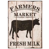 Farmers Market Wood Wall Decor with Cow | Hobby Lobby
