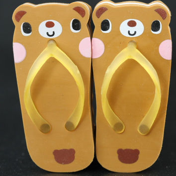 Pair of Teddy Bear Sandal Erasers
