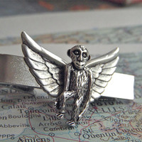 Tie Clip Flying Monkey Silver Plated Men's Popular Steampunk Gifts & Accessories