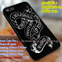 I Solemnly Swear Harry Potter Quote iPhone 6s 6 6s+ 6plus Cases Samsung Galaxy s5 s6 Edge+ NOTE 5 4 3 #movie #HarryPotter dl3