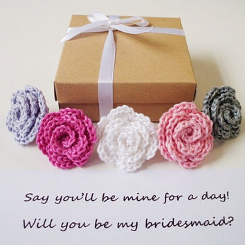 Bridesmaid gift box Bachelorette party favors Will you be my bridesmaid gift Maid of Honor Flower girl invitation Bridal party gifts