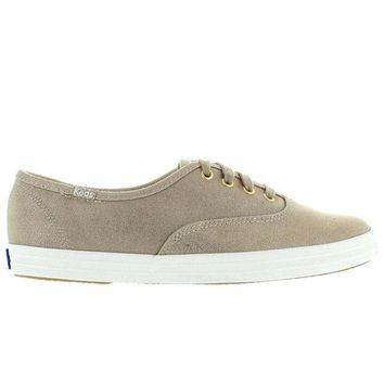 ONETOW Keds Champion Ox - Metallic Gold Canvas Lace-Up Sneaker