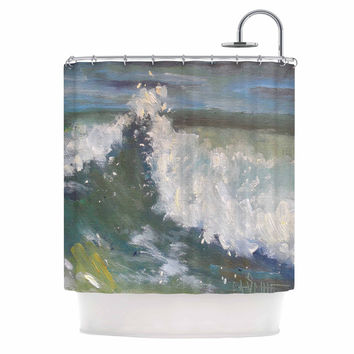 "Carol Schiff ""The Crest"" Nautical Painting Shower Curtain"