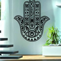 Hamsa Hand Version 10 Decal Sticker Wall Vinyl Art Blessings Power Strength