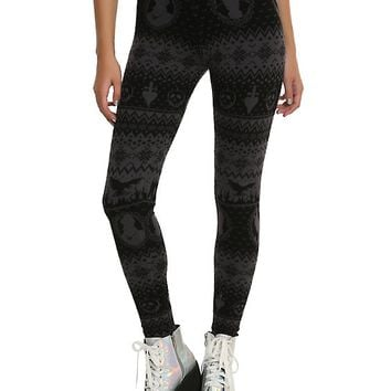Disney Villains Intarsia Print Leggings
