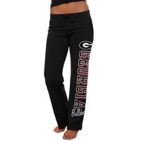 Georgia Bulldogs Ladies Frosh Fleece Sweatpants - Black