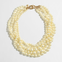 Factory multistrand pearl necklace : Necklaces | J.Crew Factory