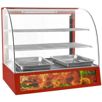 """Commercial Countertop Display Curved Glass Food Warmer 27"""""""