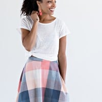 AMELIA SKIRT PINK PLAID