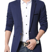 Luxury Business Casual Suit Men Blazers