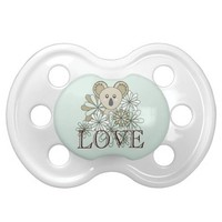 Cute Animal Pacifiers for Boy and Girl: Sweet Neutral Baby Shower or Birthday Gift: Baby Koala: Love
