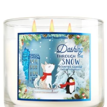 3-Wick Candle Dashing Through the Snow