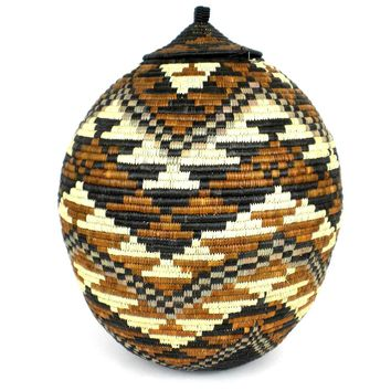 Zulu Wedding Basket -OS-11 - Ilala Weavers