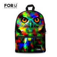 Full color rainbow owl leopard lion dog whale pugs panda bear backpack school bag rucksack