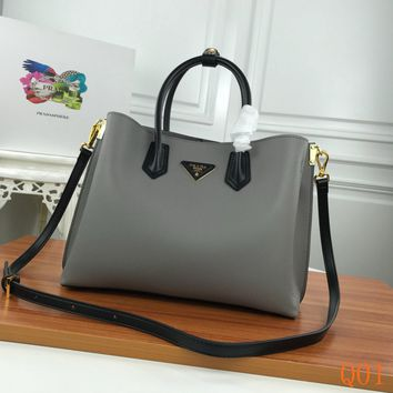 HCXX 19Aug 1005 Prada Leather Fashion Kell Bag Casual Tote Shoulder Qulited Bag 31-24-13cm