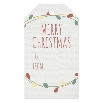 Classy Merry Christmas Gift Tags