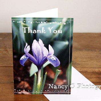"Greeting Card, Card, Nature Card, Iris Flower, Thank you, Happy Birthday, 5""x7"" Card, Greeting Cards, Nancy G, Floral Card"