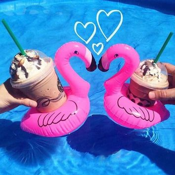 Mini Flamingo inflatable Cup Holders