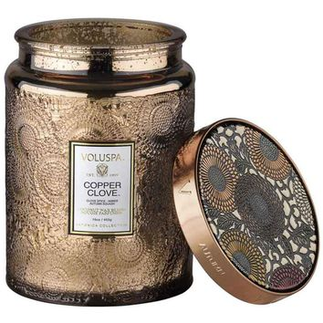 Copper Olive Candle
