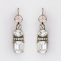 Vintage Inspired Crystal Drop Earrings