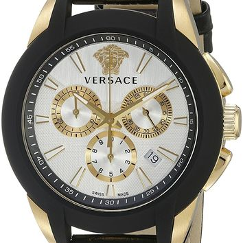 Versace Men's VQN030015 Character Analog Display Quartz Black Watch