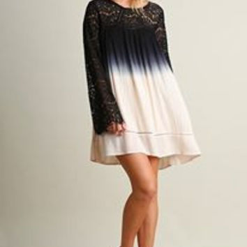 Umgee Lace Ombre Dress