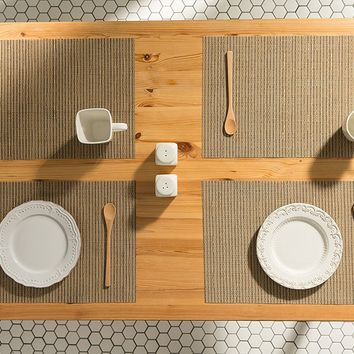 Tweed Wheat Woven Table Placemats