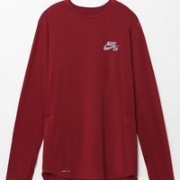 Nike SB Skyline Dri-FIT Long Sleeve T-Shirt - Mens Tee - Red