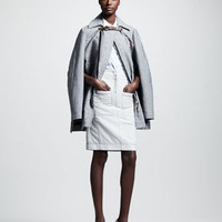 Altuzarra Gail Striped Canvas Coat, Vervet Beaded Striped Blouse & 7 Monsoon Striped Canvas Skirt