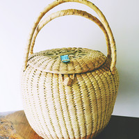 Vintage Xhauga Weaver Hand Made Basket, African Woven Basket, Storage Basket