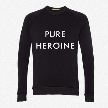 Pure Heroine fleece crewneck sweatshirt