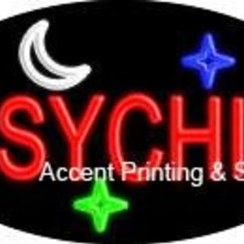Psychic Flashing Handcrafted Real GlassTube Neon Sign
