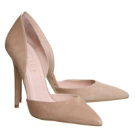 Office Panther 2 Part Court Nude Suede - High Heels