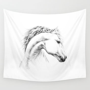 Horse Wall Tapestry by EDrawings38
