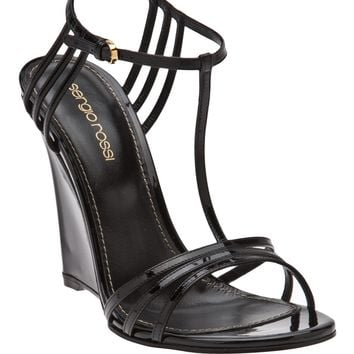 Sergio Rossi Strappy Wedge