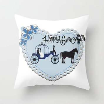 Happily Ever After Throw Pillow by LisaG