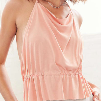 Ecote Luella Halter Babydoll Tank Top | Urban Outfitters