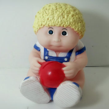 Collectible Cabbage Patch Kid Bank Boy Blue Overalls 80s