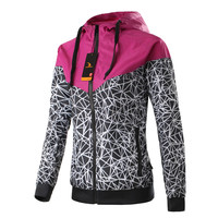 Spring And Fall New Women's sports jacket hooded jacket Women Fashion Casual Thin Windbreaker Zipper Coats